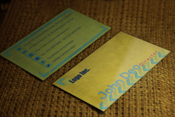 FREE Business Card Template psd download Yellowish Combination