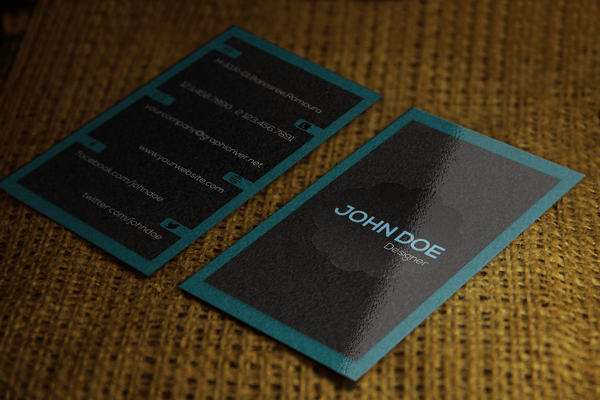 Free business card psd template download dark grey dark grey stylish free business card psd template reheart Gallery