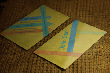 Yellowish free Business card template
