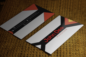 like us +1 us Triangle Commercial Business Card Template PSD