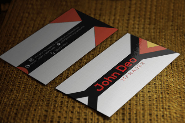 Contrasting Free Business Card Template Psd Download