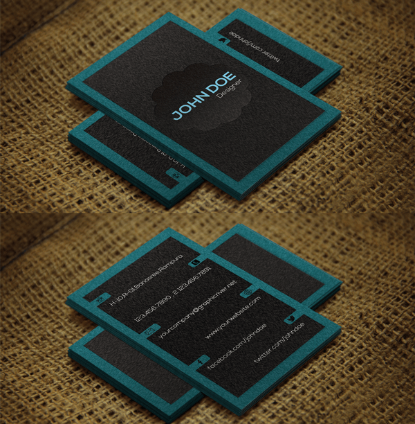 Dark Grey Stylish free Business Card Templates psd