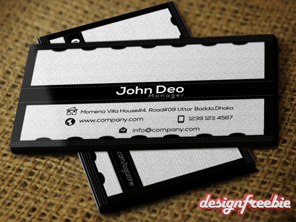 Black white free business card templates psd 01design free business card templates psd cheaphphosting Image collections
