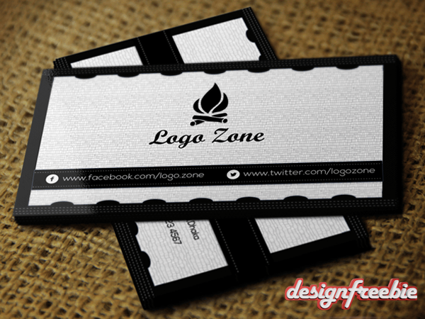 02_closeup-back Black & White Free Business card templates
