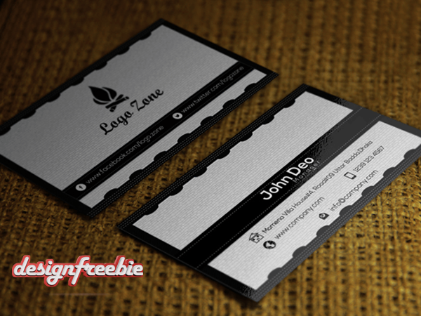 Black white free business card templates psd free business card template both side design super elegant black white reheart