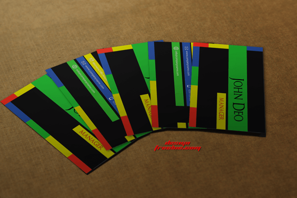Multi-color free Business card template psd Preview image