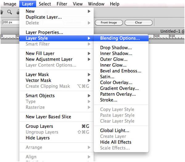 Adobe Photoshop Menus