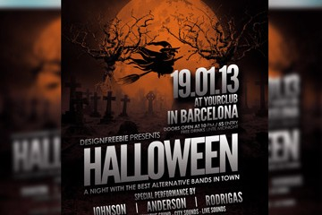 Free Halloween Party Flyer Template