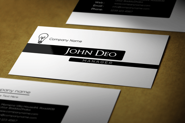 Free black and white business card template black and white business card template wajeb Image collections