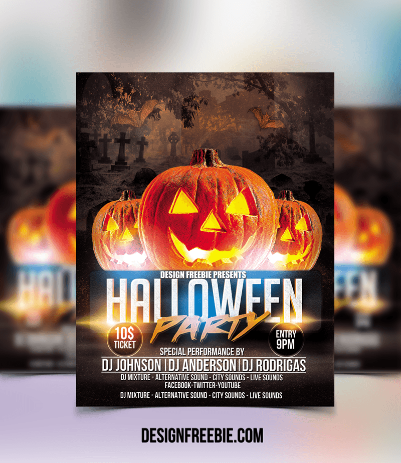 halloween party flyer - Free Halloween Flyer Templates
