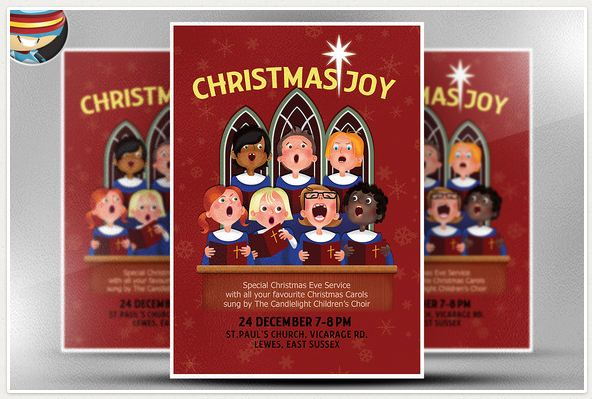 Christmas Choir Flyer Template