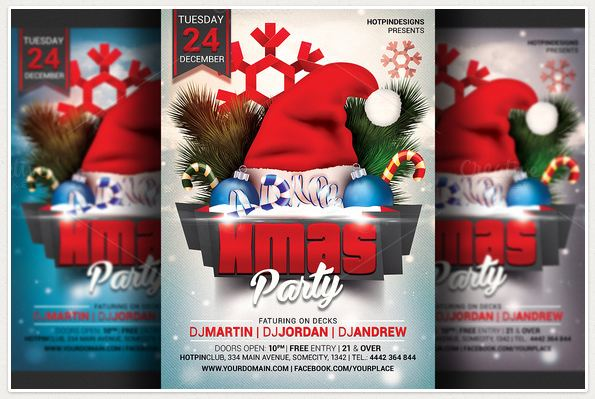 Awesome Christmas Party Flyer Templates Flyers Psd