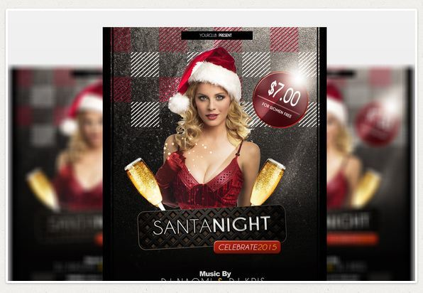 Santa Night - Party Flyer Template