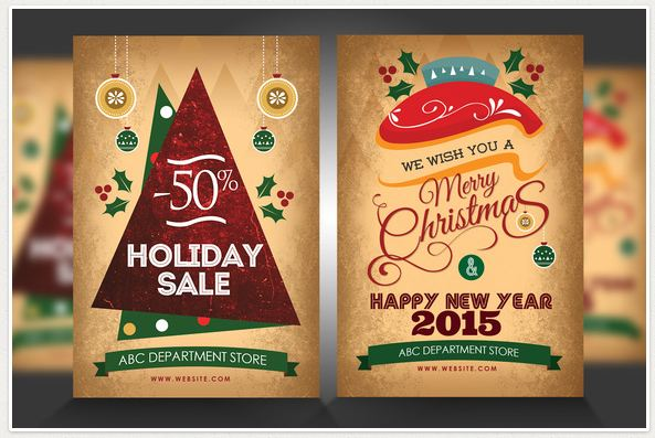 New year/ Christmas Party flyer Template
