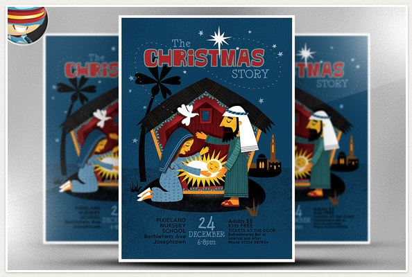 Christmas Nativity Flyer Template