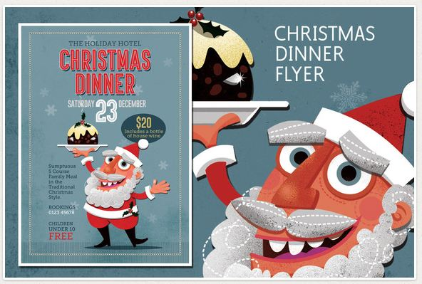 Awesome Christmas Party Flyer Templates | Flyers Psd