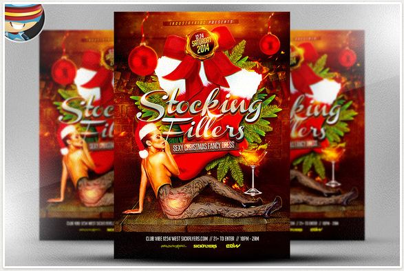 Stocking Fillers Flyer Template