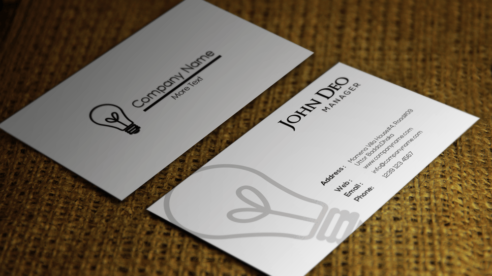 Clean stylish corporate free business card psd template flashek Gallery