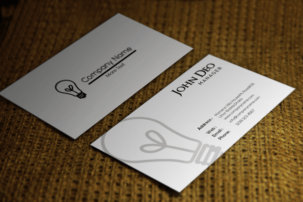 Clean Stylish Corporate Free Business Card PSD Template - Business card psd template