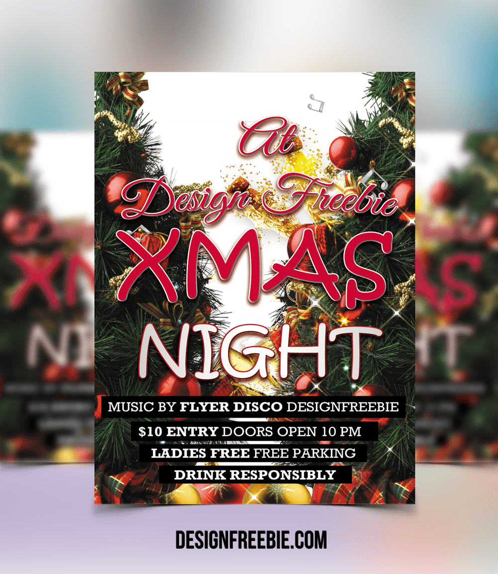 christmas night party flyer template christmas party flyer template 1 christmas night party flyer template