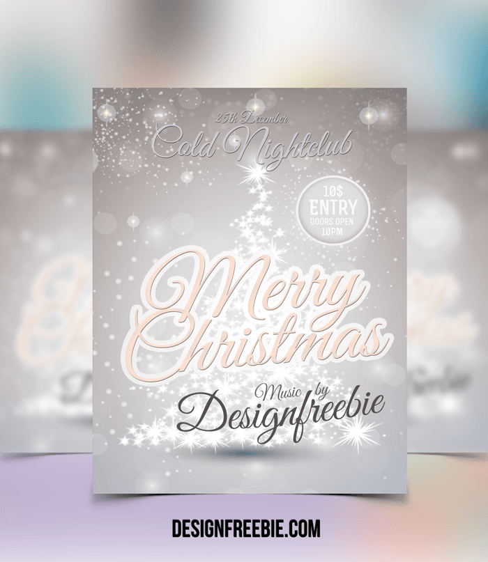 flyer design template christmas party flyertemplate review image