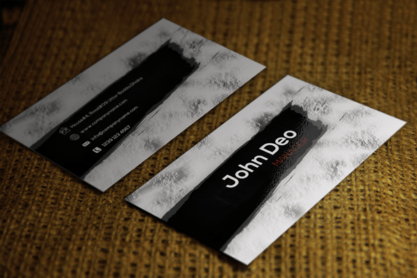 Free Download Black Shadow Unique Business Cards - Awesome business cards templates