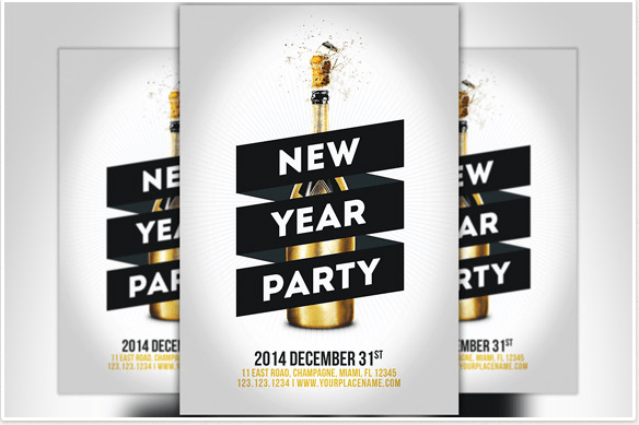50 super cool new year party flyer templates design freebie