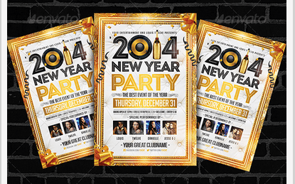 Golden New Year | Flyer Template