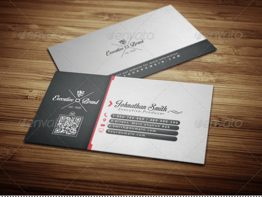 Executive Brand Business Card Design
