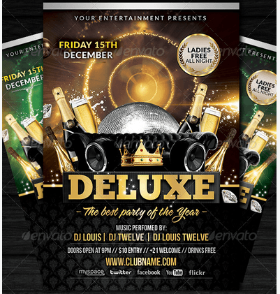 Deluxe / New Year | Flyer + FB Cover