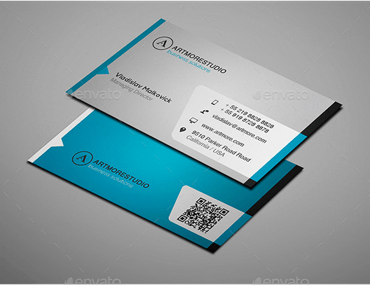 30 best business card templates psd design freebie simple business card design template accmission Gallery