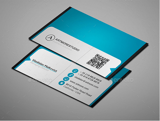 30 best business card templates psd design freebie simple business card design template reheart Image collections