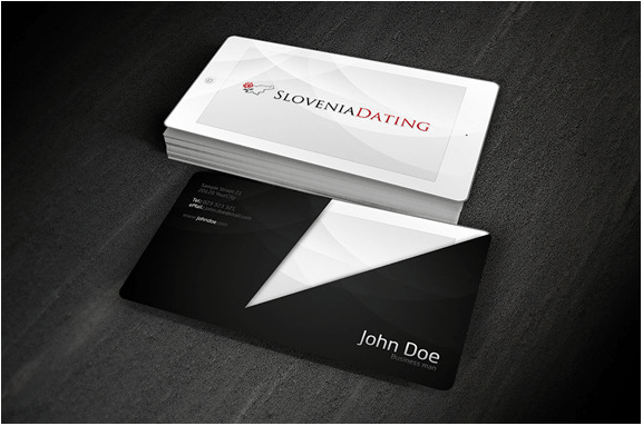 IPAD Looking Business Card Design template