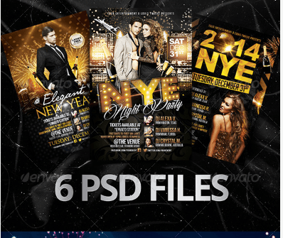 Elegant New Year Bundle | Flyers + FB Covers
