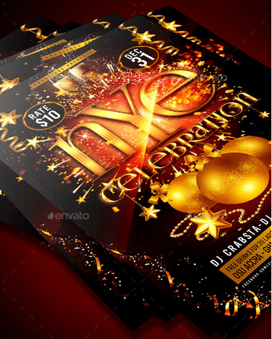 New Year's Eve Celebration Flyer Template