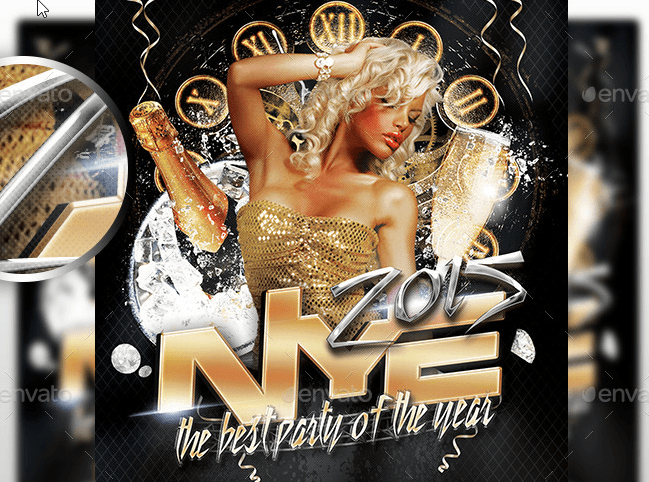 New Year's 2015 Flyer Template