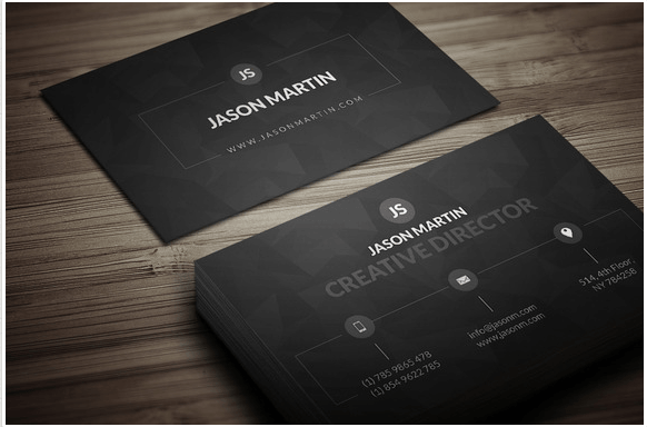 Dark individual business card Design