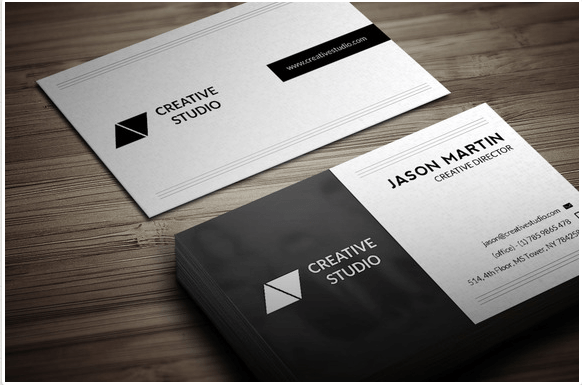 Dual Backside Business Card Design Template
