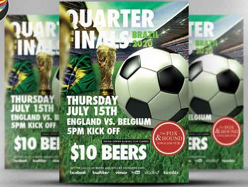 Best Soccer Tournament Flyer Design – Competition Flyer Template
