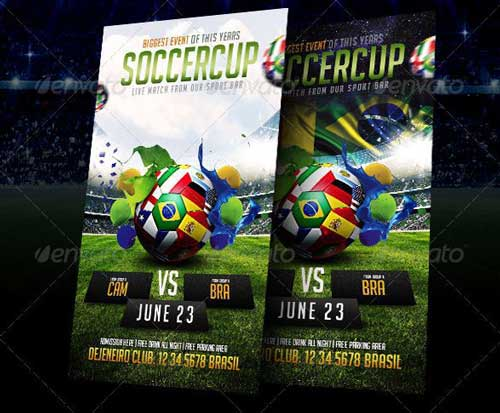 Best Soccer Tournament Flyer Design – Soccer Flyer Template