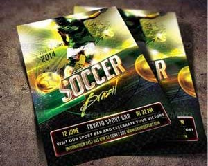 Soccer flyer templates