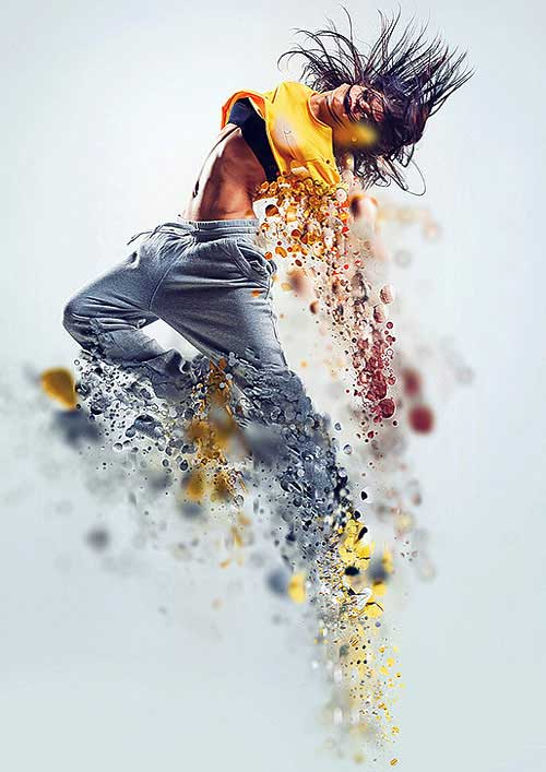 dispersion action photoshop