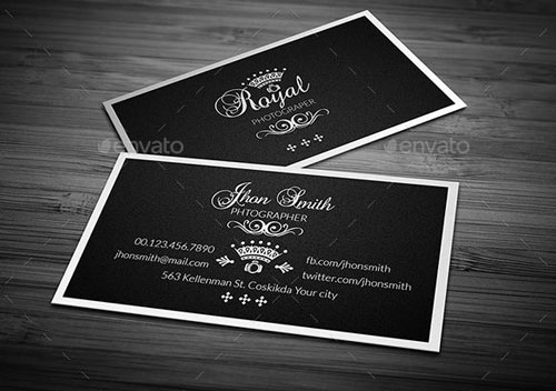 Photographer name Card