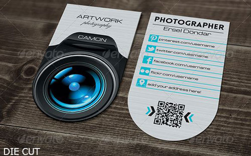 Best photography business card templates example photographer business card 3 reheart Images