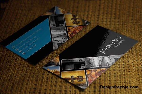 Free Photography Business Card - Photography business card template