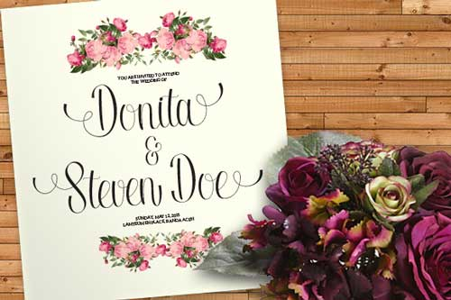 popular wedding fonts