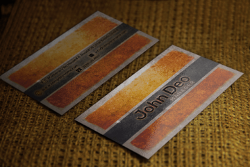 free business card template Texture Style