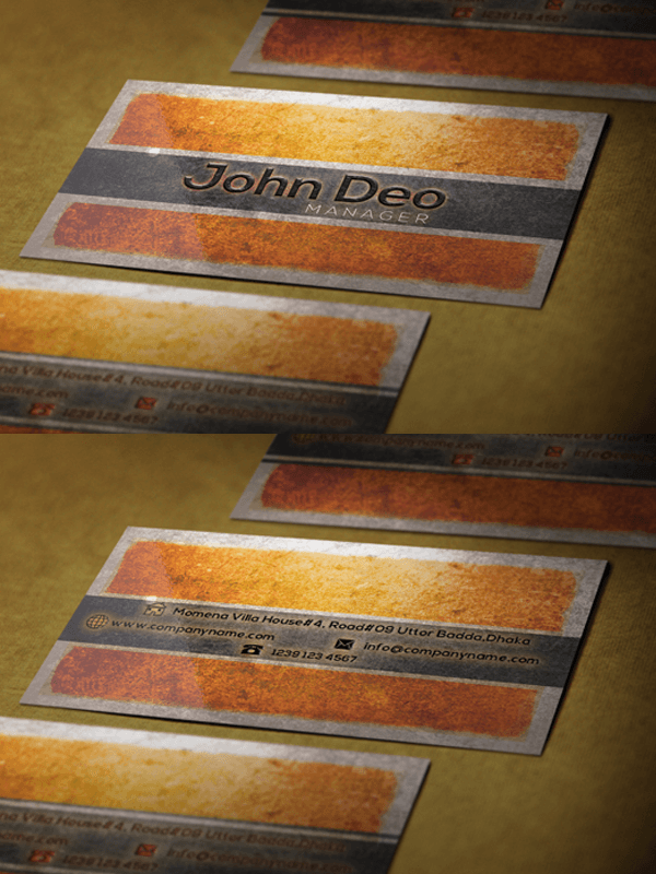 Texture Styled business card template