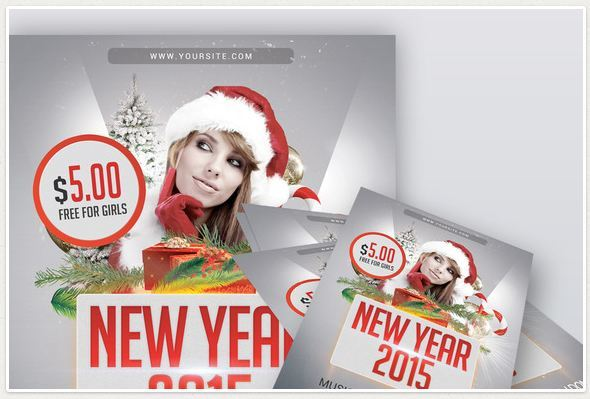 New Year 2015 Flyer PSD