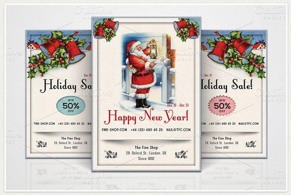 3 Retro Christmas Flyers - Part 3